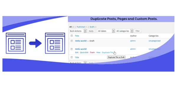 Duplicate page WordPress